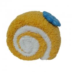 Toalla forma porción tronco pastel