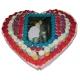 Tarta corazon de Dos pisos base 40 cm