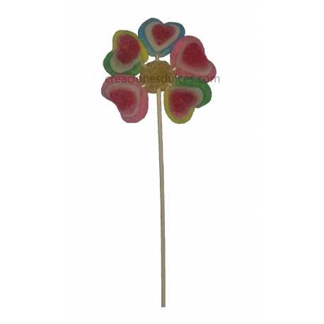 Brocheta Flor multicolor